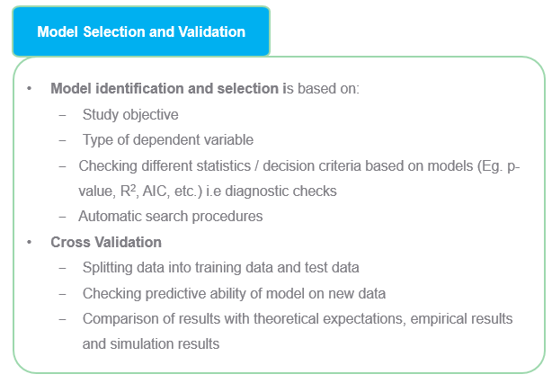 Model selection, identification and validation